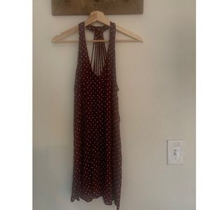 American Eagle Dark Red Polka Dot a Summer Dress